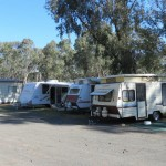 The Harrow caravan park powered sites and cabin.