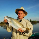 The author with a typical Corroboree Billabong barramundi.