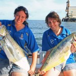 These queenfish took a lure trolled near the Lucinda Sugar Loading jetty.