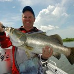 Colin Burdon owns Reidy's Lures and loves fishing the Mary River with his own products.