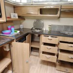 A well laid out kitchen offers plenty of practical storage as well as being very functional.