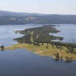 Aerial view Lake Copeton main basin