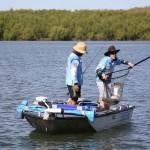 Another meteri Mitchell River barramundi falls victim to the landing net