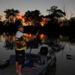 Getting the fishing tackle ready at dawn