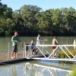 Just about everyone has a fishing rod on the Murray