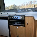 kitchenette of Goldstream RV Storm Adventure Pack