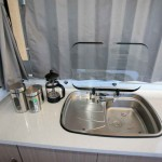 stainless steel sink with glass top