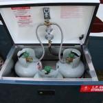 External gas storage locker.