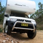 The Suncamper Sherwood 4x4 is quite happy poking around on the back tracks