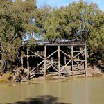 A three level wharf at Bourke accommodates varying river heights
