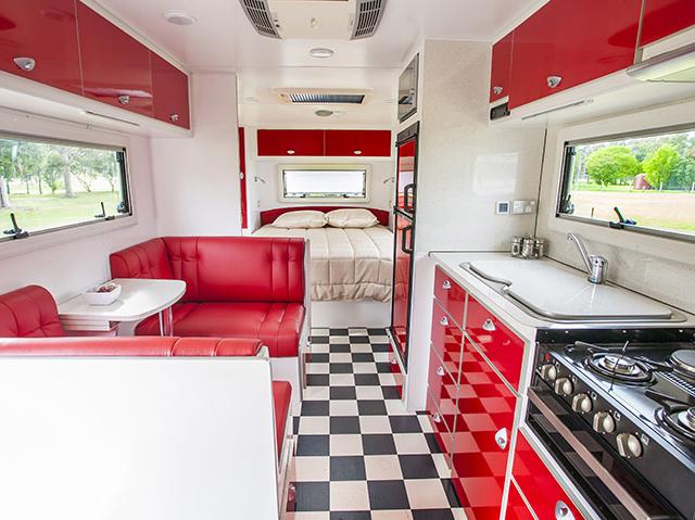 Longreach Outback Caravan interior