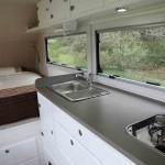 Internal kitchen in the Full Van.