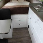 Storage drawers under the bed.