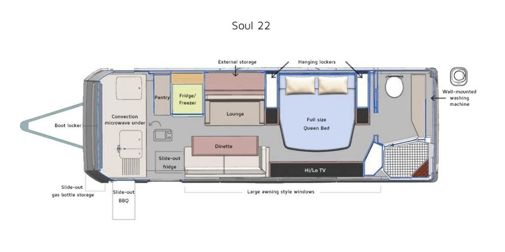 Soul 22 Caravan Floor Plan