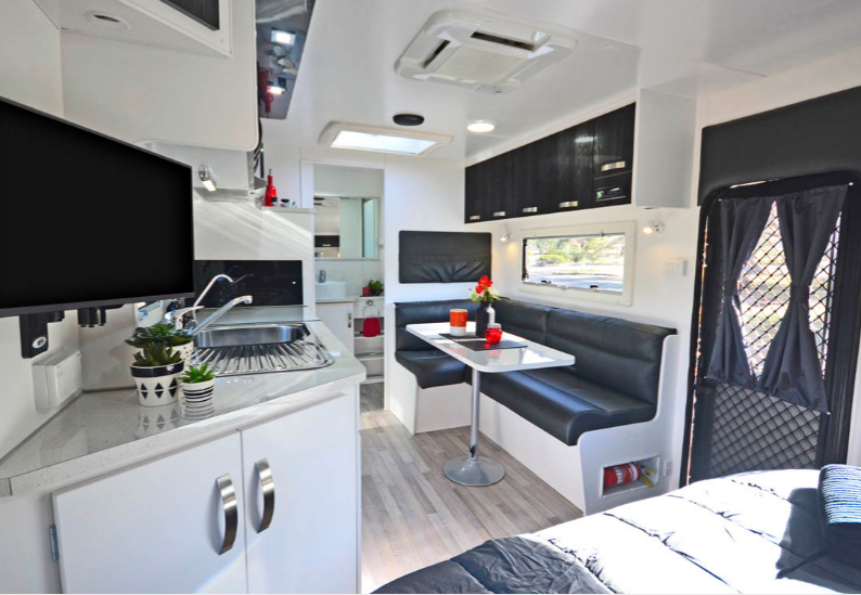 Nova caravans on the road for Indoor design conditions