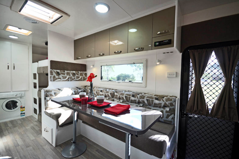Family Escape Nova Caravan interior