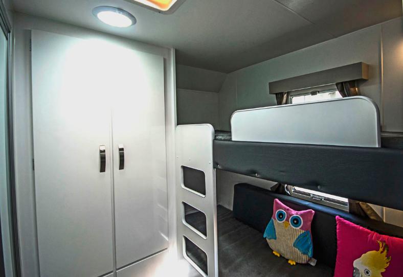 Family Escape Nova Caravan kid's bunk bed