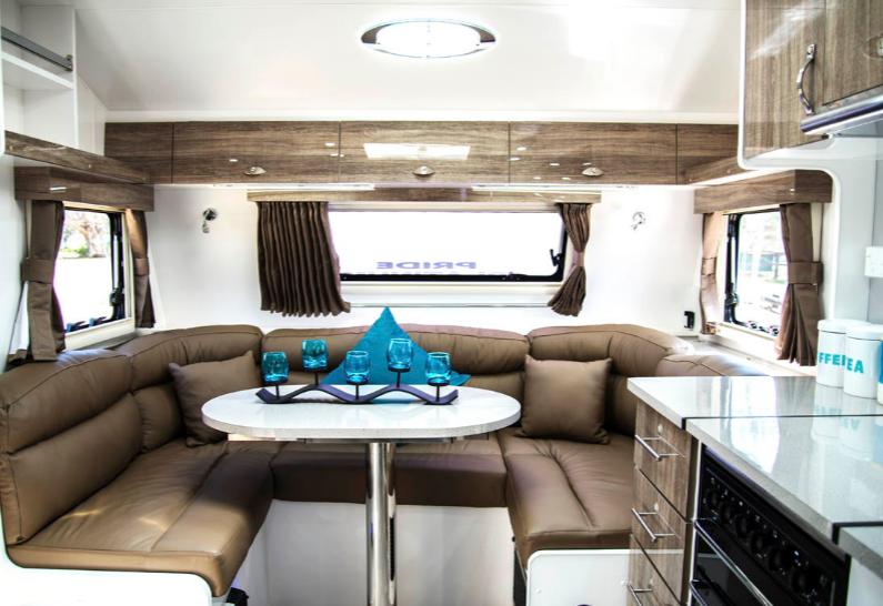 Pride Platinum Nova Caravan interior