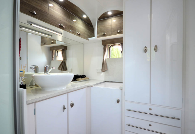 Pride Platinum Nova Caravan toilet
