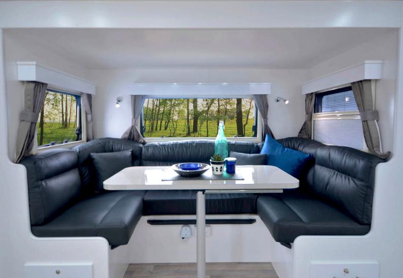 Pride Platinum Nova Caravan lounge