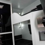 Bunks come complete with entertainment units to keep the kids happy.