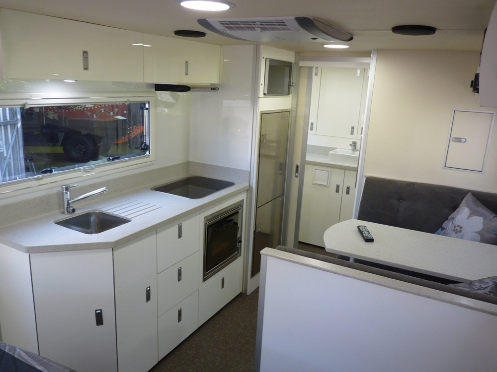 Cool Theres A Caravan  A DO35 Off Road Coupling Is Used Up Front On The Aframe While A 160 Litre Water Tank, Dropdown Jacks And Body Protection Rails Are All Bolted To The Chassis There Are Even Recovery Points Included In The Design