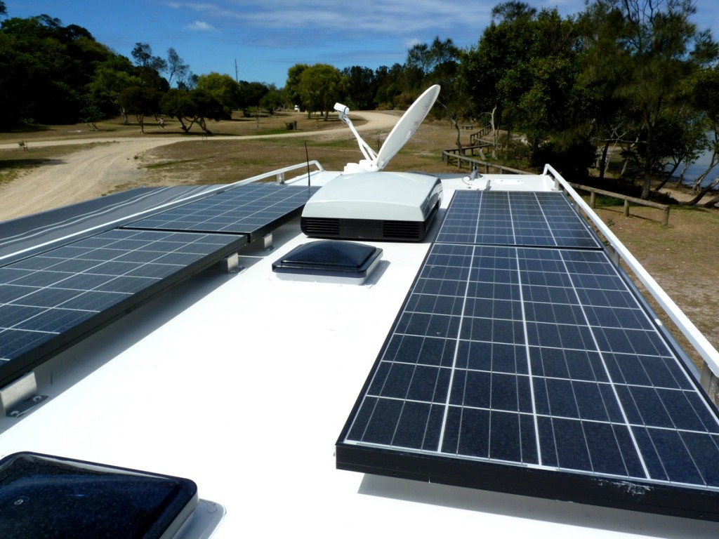 Discoverer 2300 Off Road Caravan solar panel