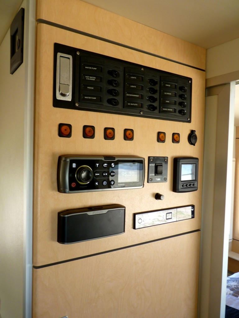 Discoverer 2300 Off Road Caravan power switch