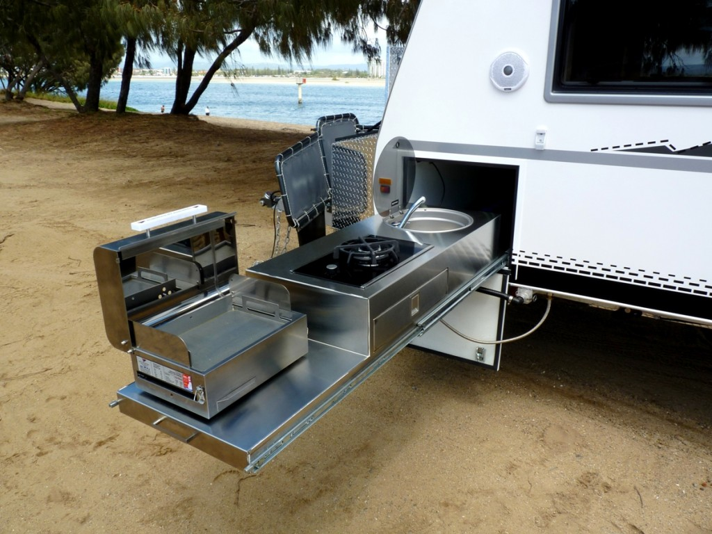 Discoverer 2300 Off Road Caravan exterior kitchen