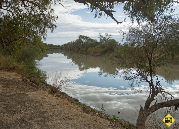 Eyre Creek at Cuttaburra crossing