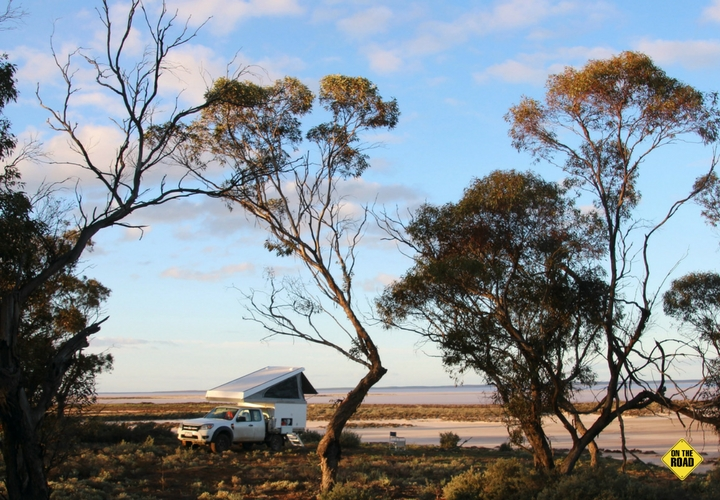Camping in Lake Tyrrell