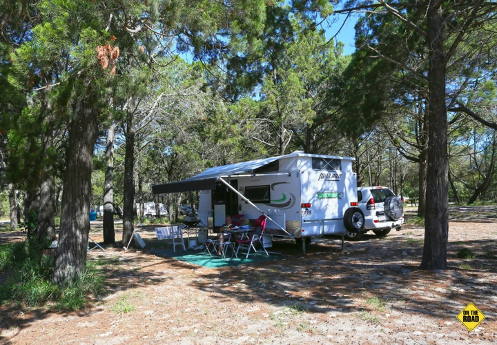 There is ample room for caravans in some of the camping