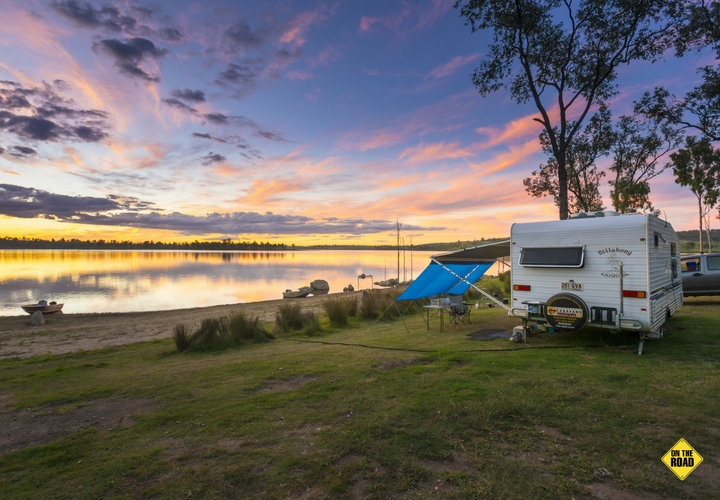Location, location, you can't beat this waterfront camp at Wuruma Dam