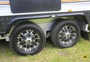 "Nova Vita 15"" alloy wheels shod with 20570 road tyres."