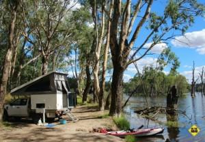 camping at Parolas Bend