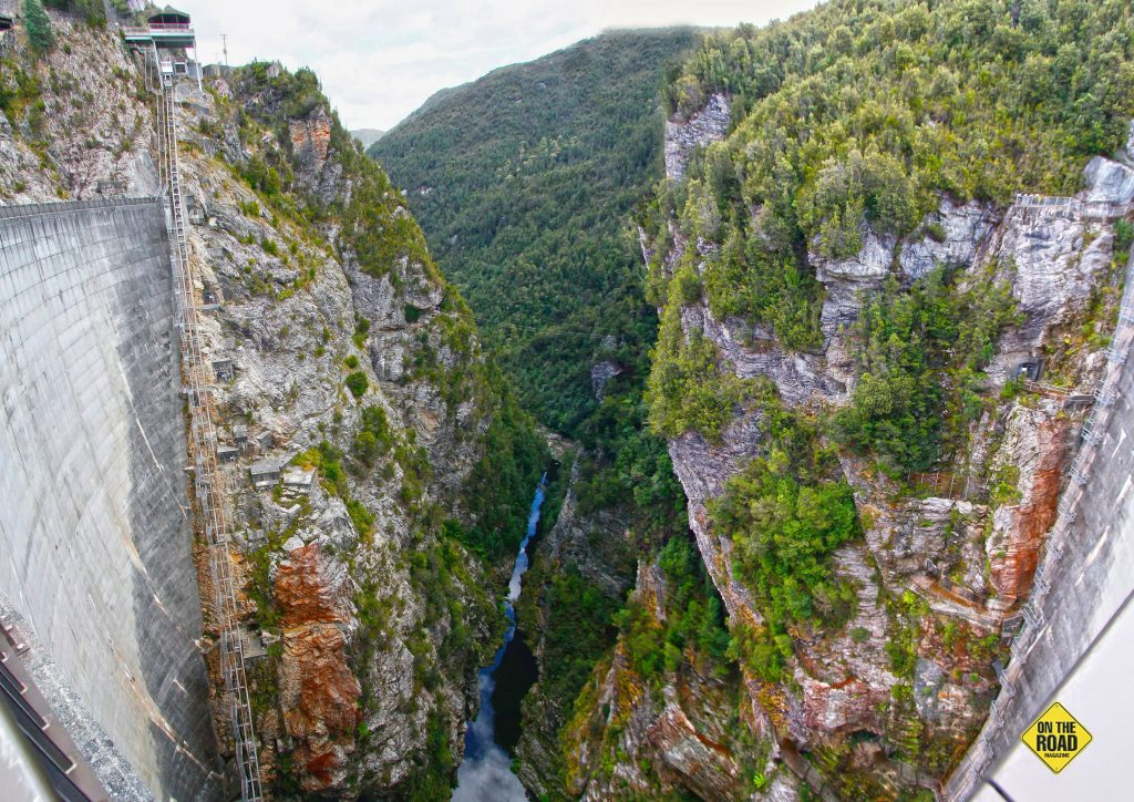 The Gordon River gorge below the dam.