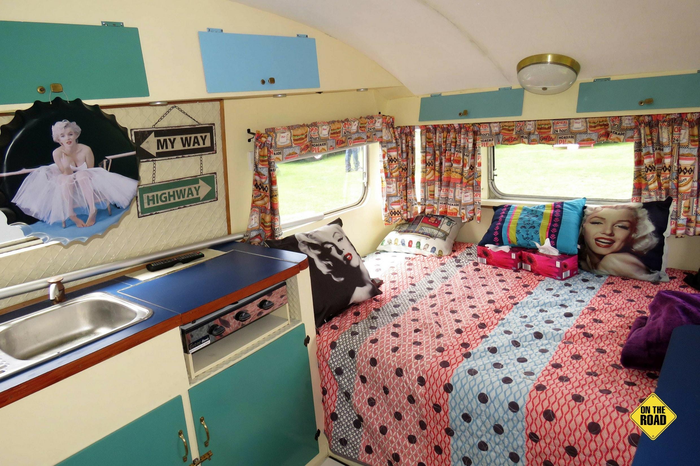 1960 Kennedy Caravan kitchen and bedroom