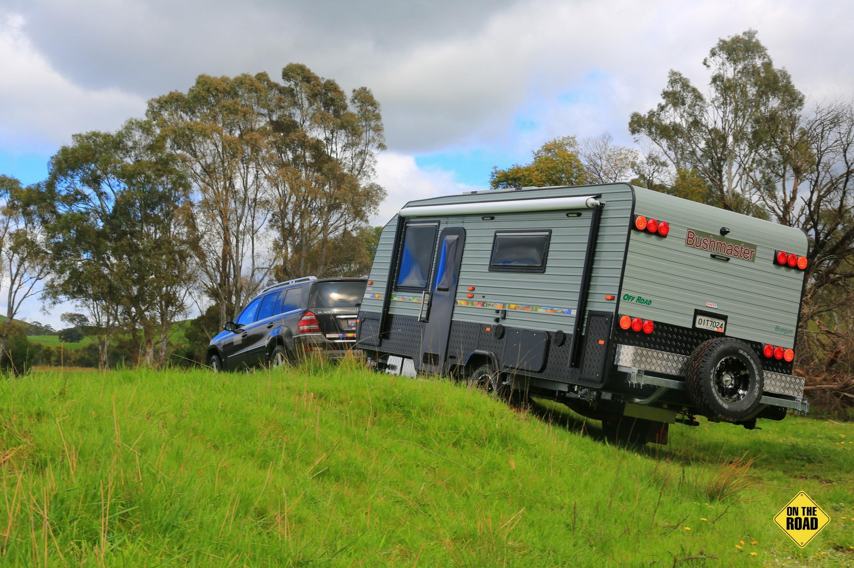 Bluegum Caravan rear view