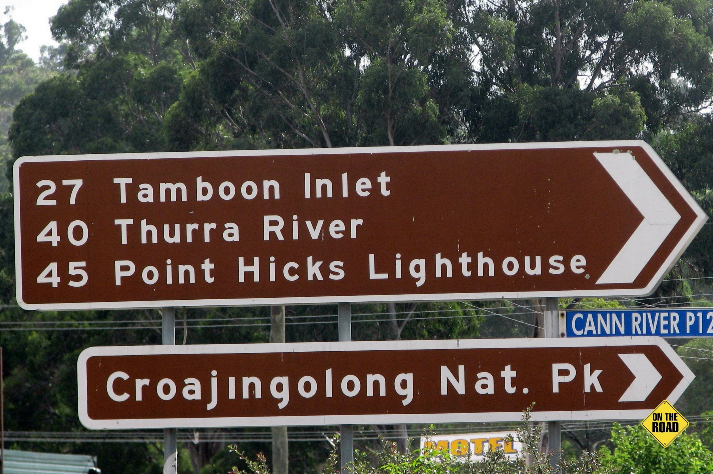Croajingalong National Park sign