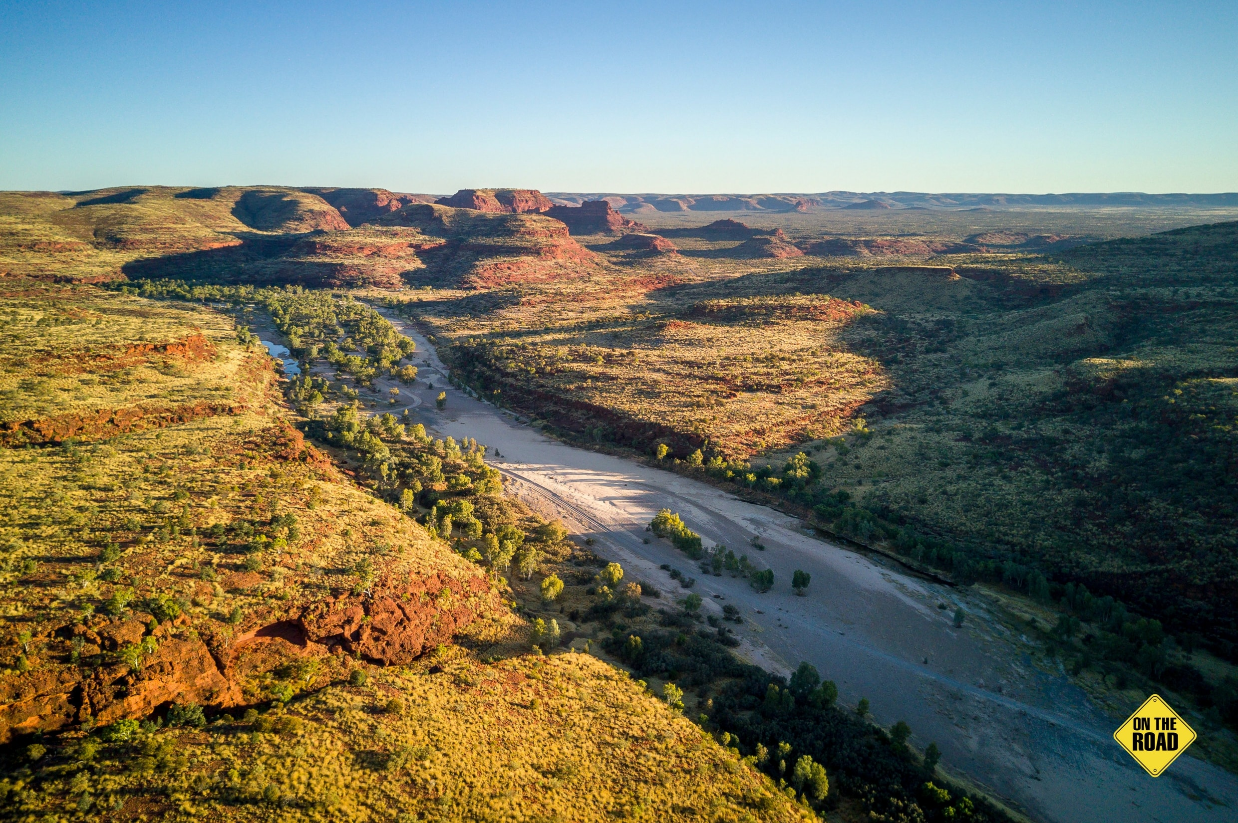 Flowing through an ancient landscape the Finke rates as one of the worlds oldest rivers