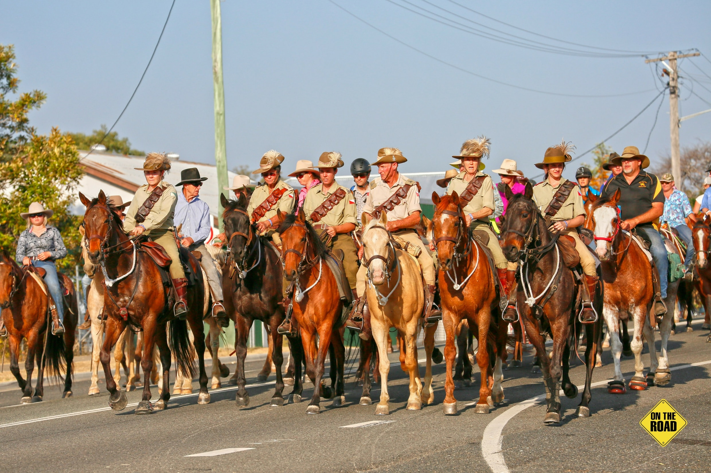 The local Light Horse contingent leads the Grand Parade of Horses down the main street
