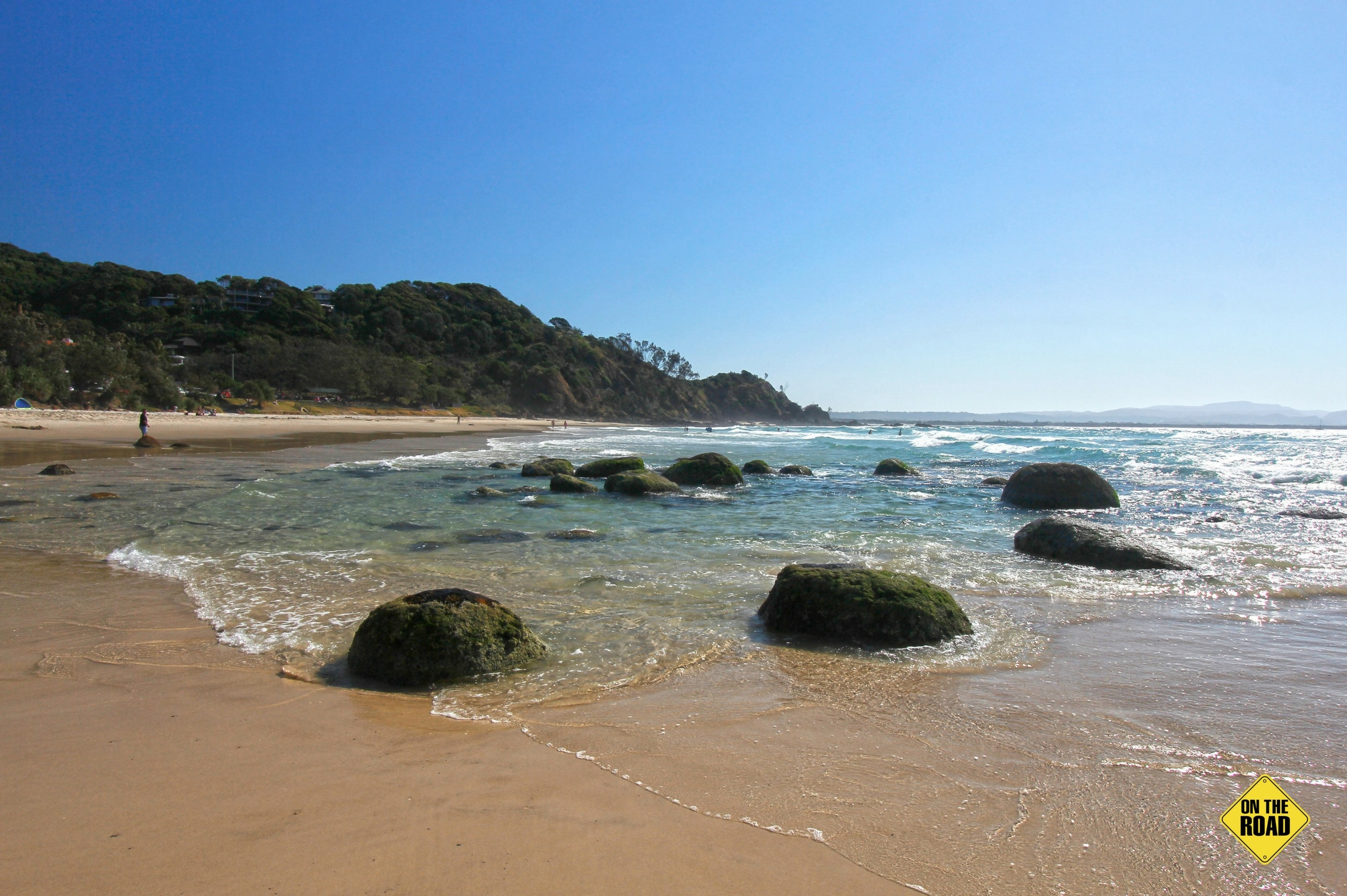 Wategos Beach in the lee of Cape Byron