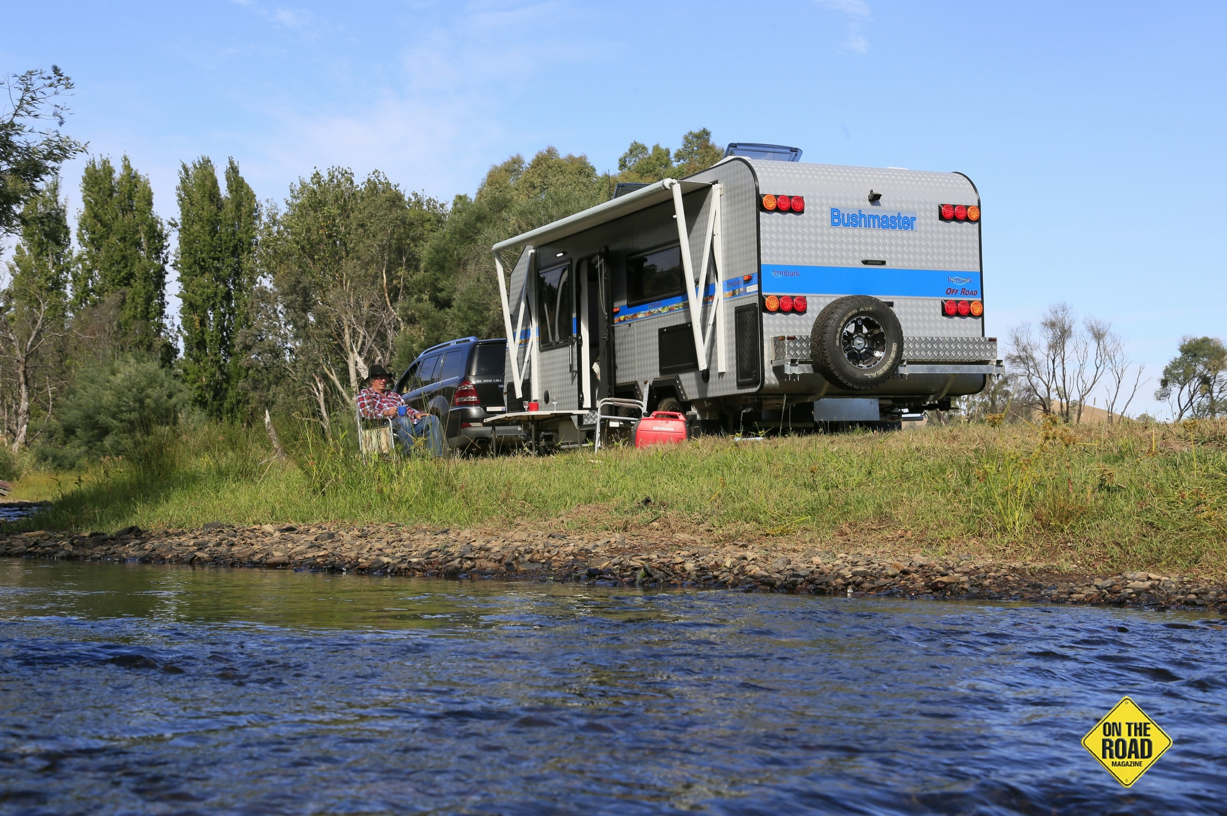 Bushmaster Ironbark camping in the river
