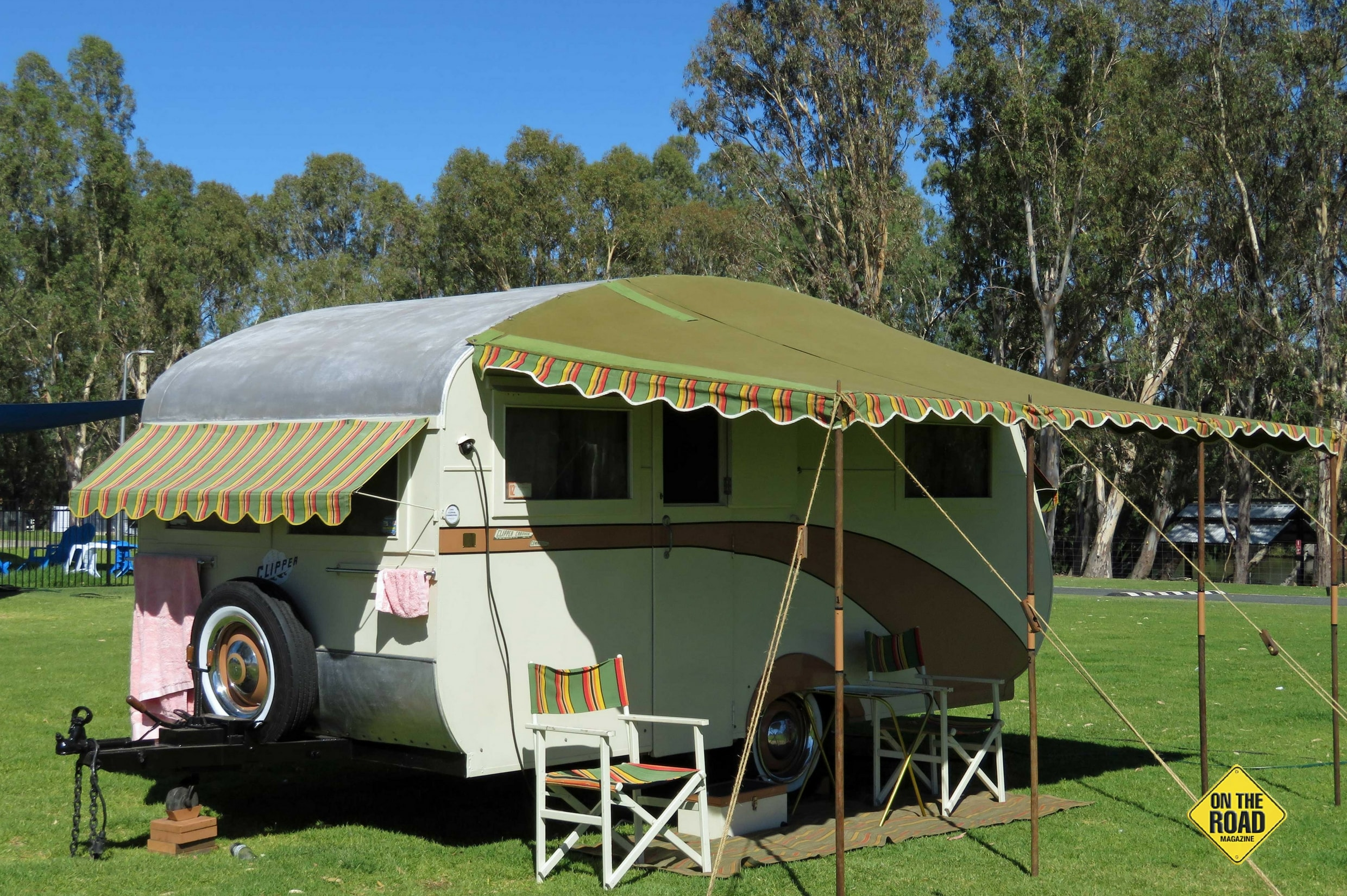 Don Tamblyn from South Australia found his 1953 Clipper caravan in a shed in Beaumont Vic. He explained that it was a big restoration project