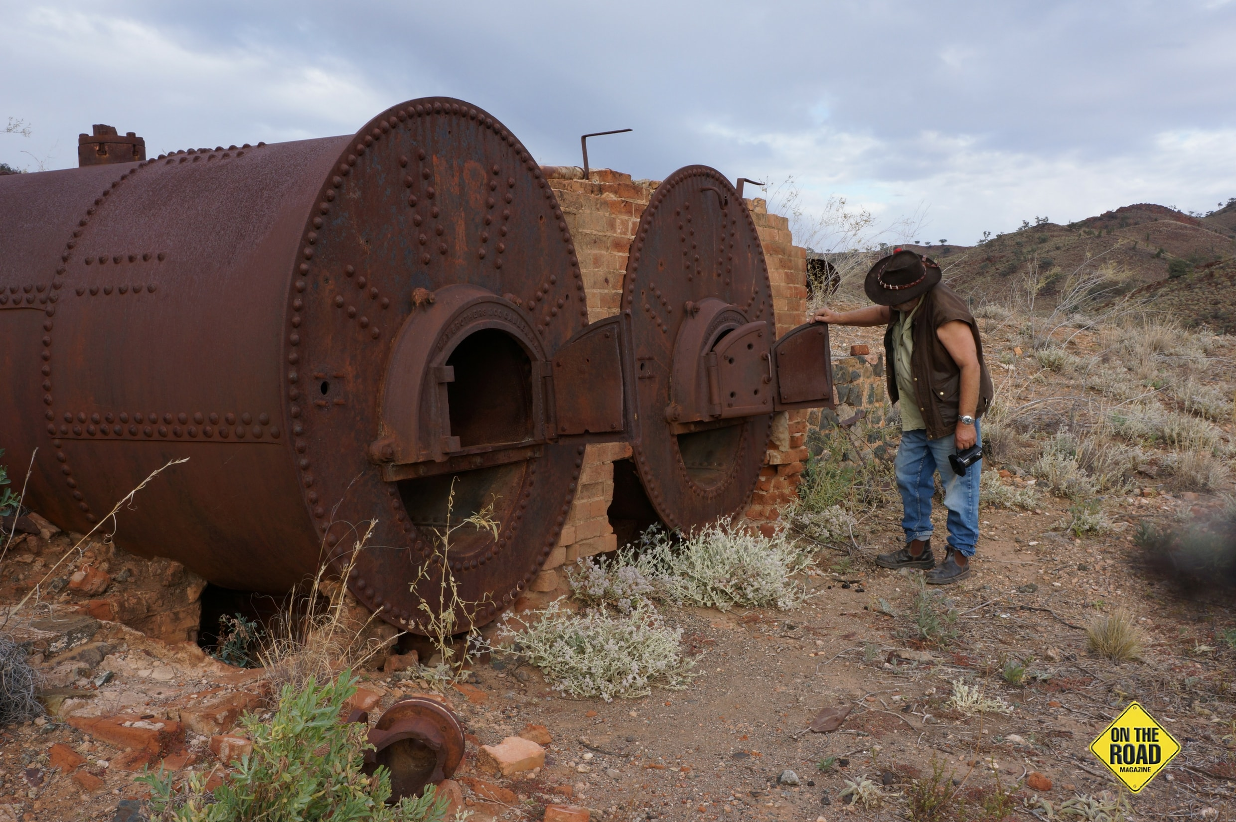 Ron checks out the old boilers at Yudamuntana