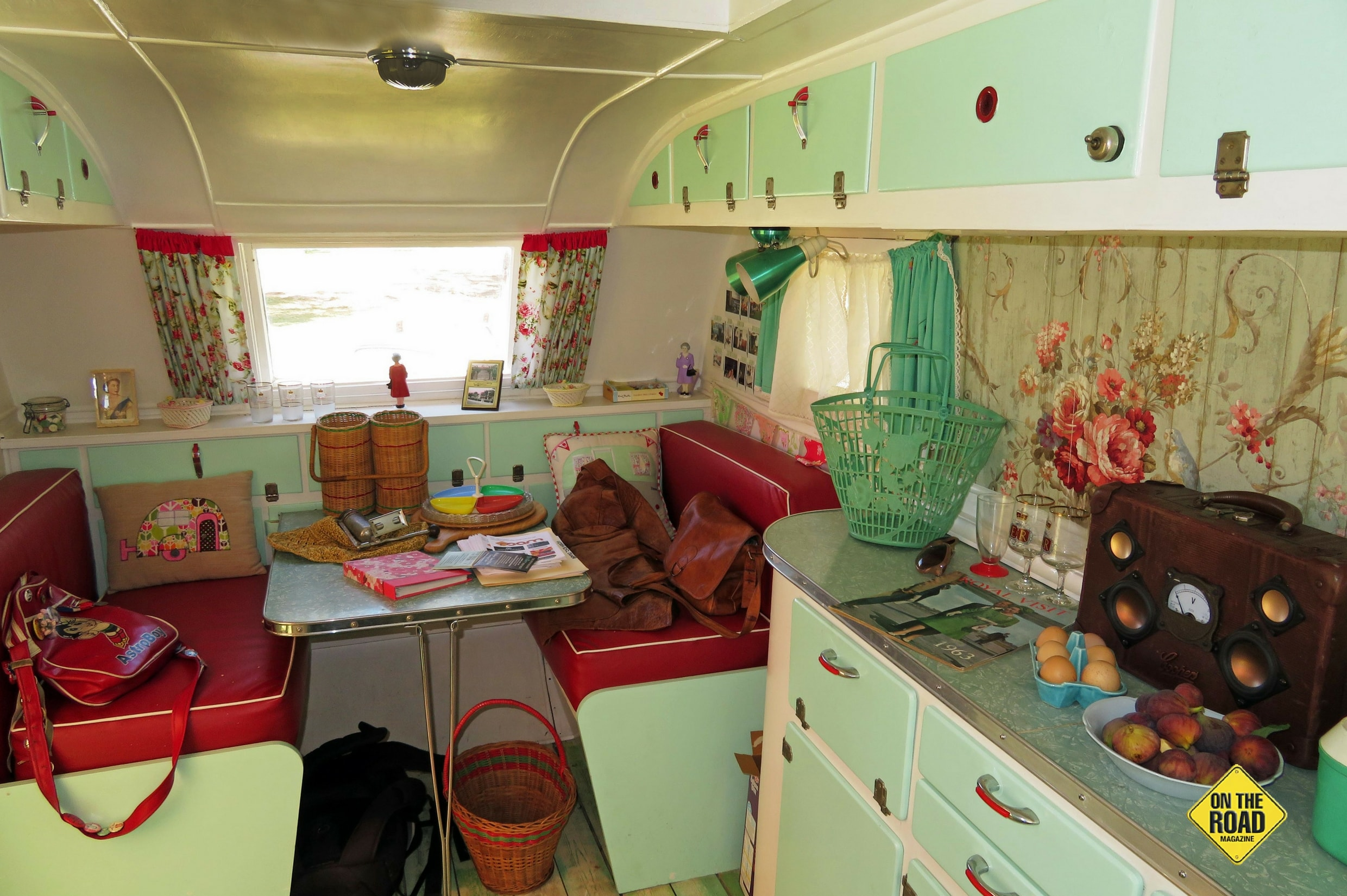 Stepping inside a vintage caravan is like going back in time to the mid-20th century