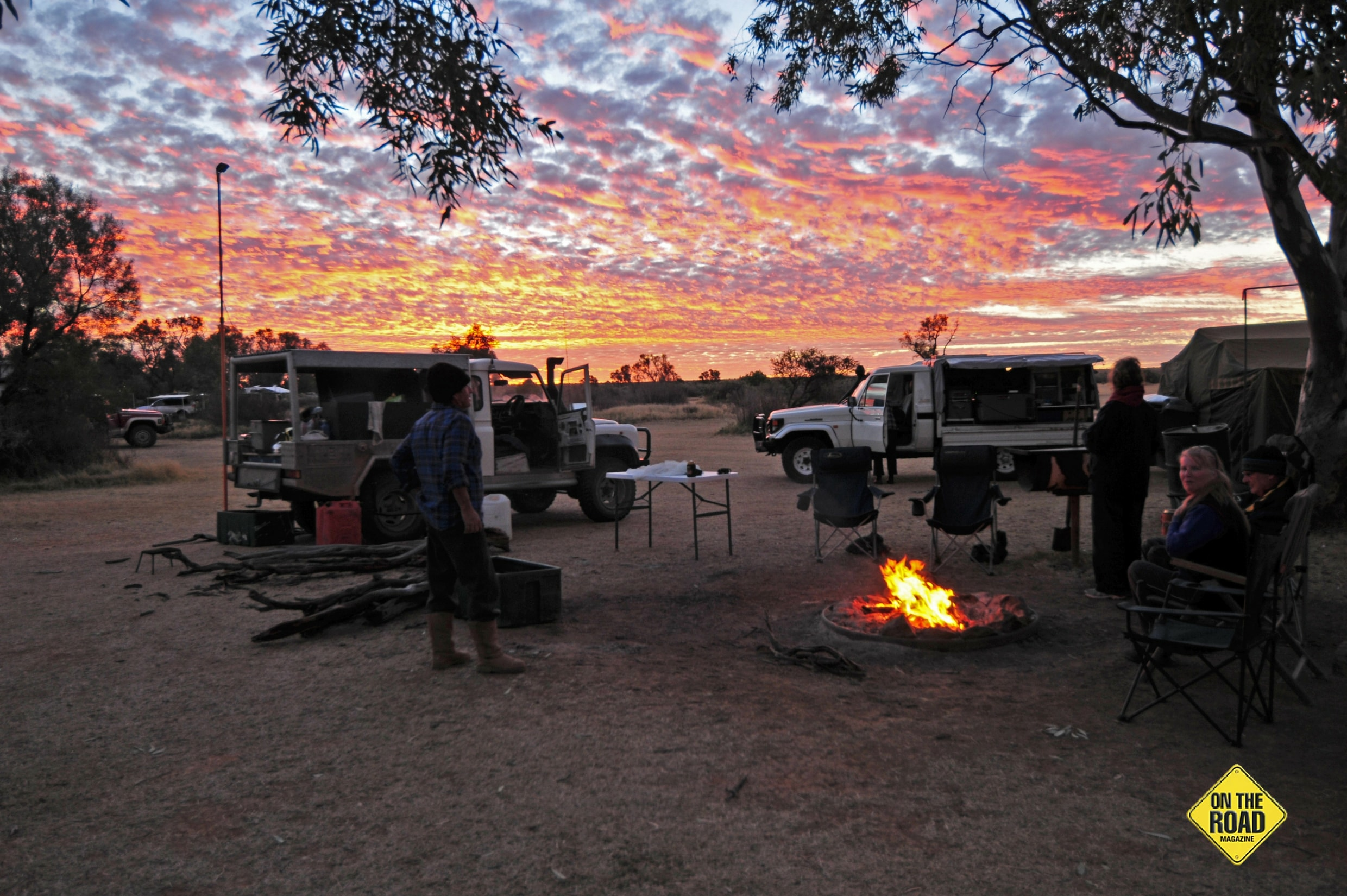 Sunset over the Farina campground