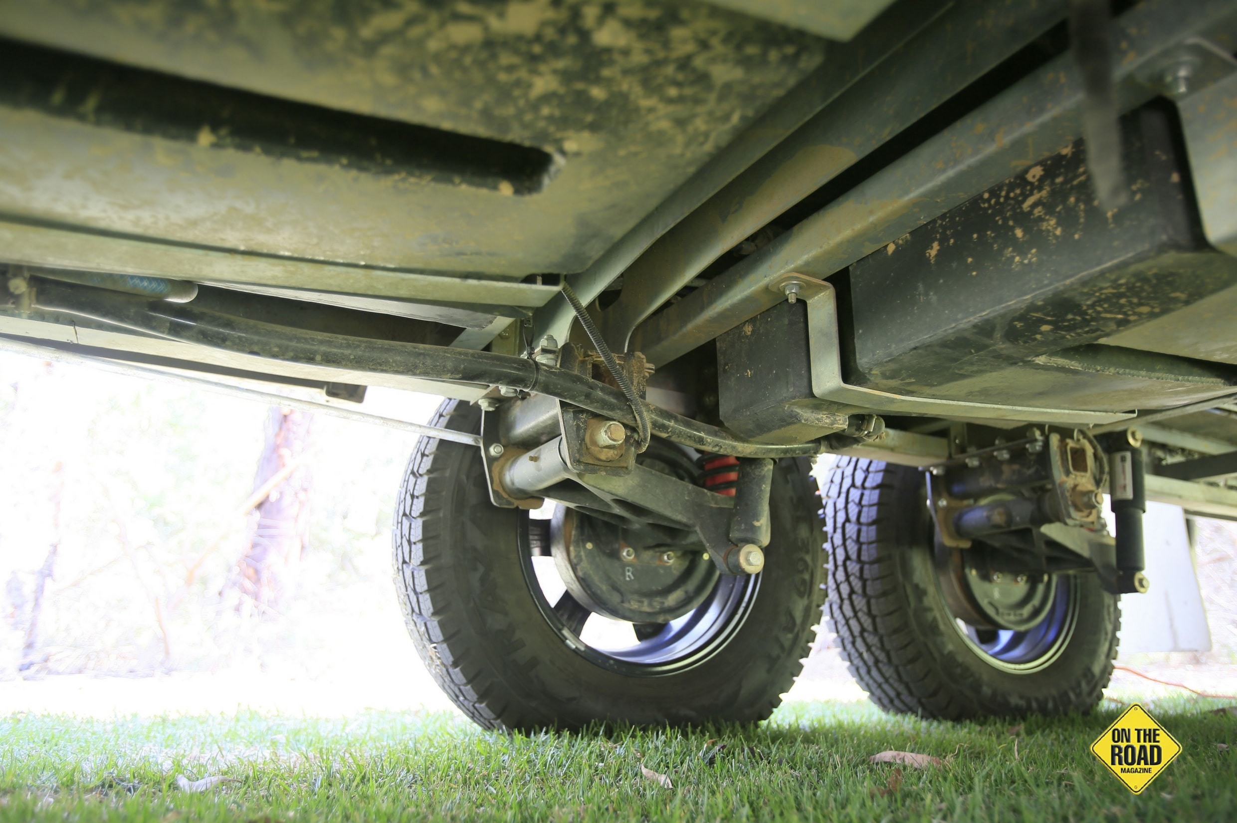 The Cruisemaster GT tandem independent trailing arm suspension