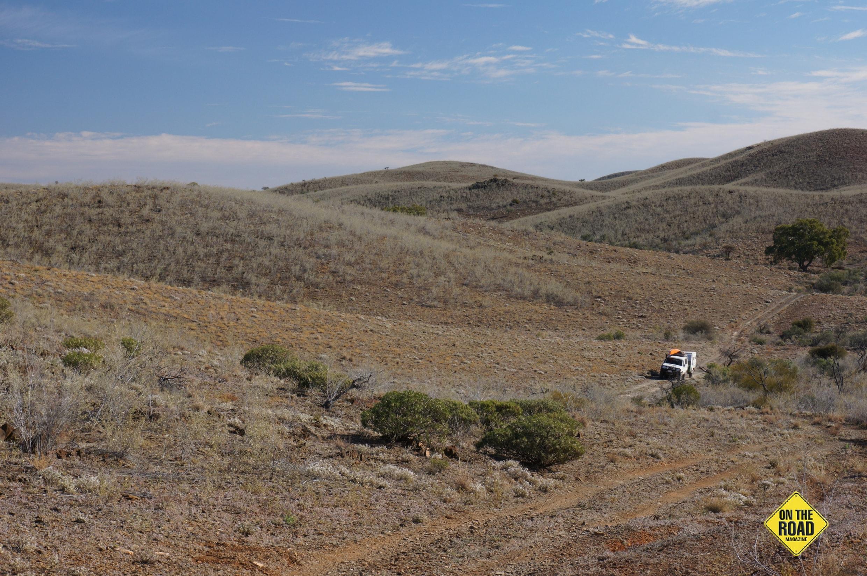 Track through Yudamuntana Creek valley