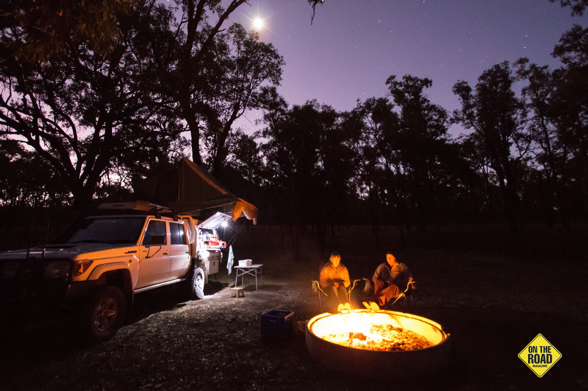 A top night was had under a star filled night at Top Moffatt campground.